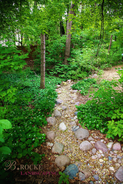 Non-invasive Dry Creek - Landscaping Feature | B. Rocke Landscaping