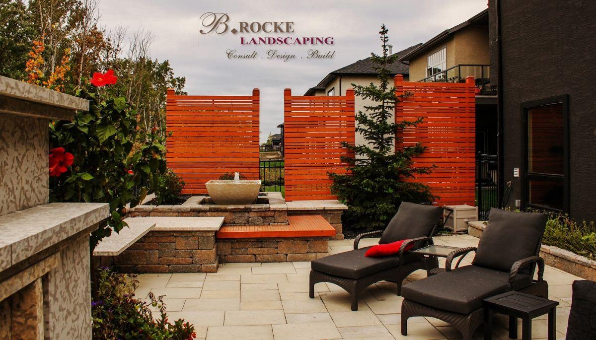 Landscaping Example - Deck with Furniture | B. Rocke Landscaping | Winnipeg, Manitoba
