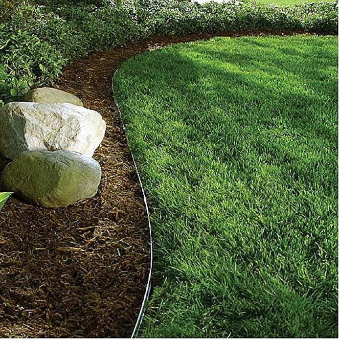 Alternative lawn edging b rocke landscaping for Garden trim
