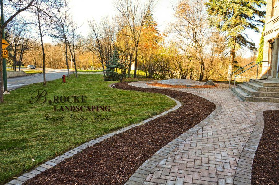 alternative lawn edging b rocke landscaping