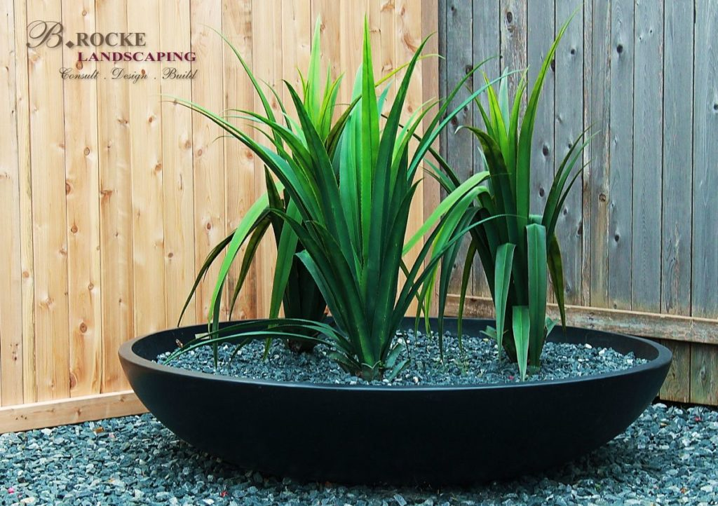 Black Granite Garden Planter