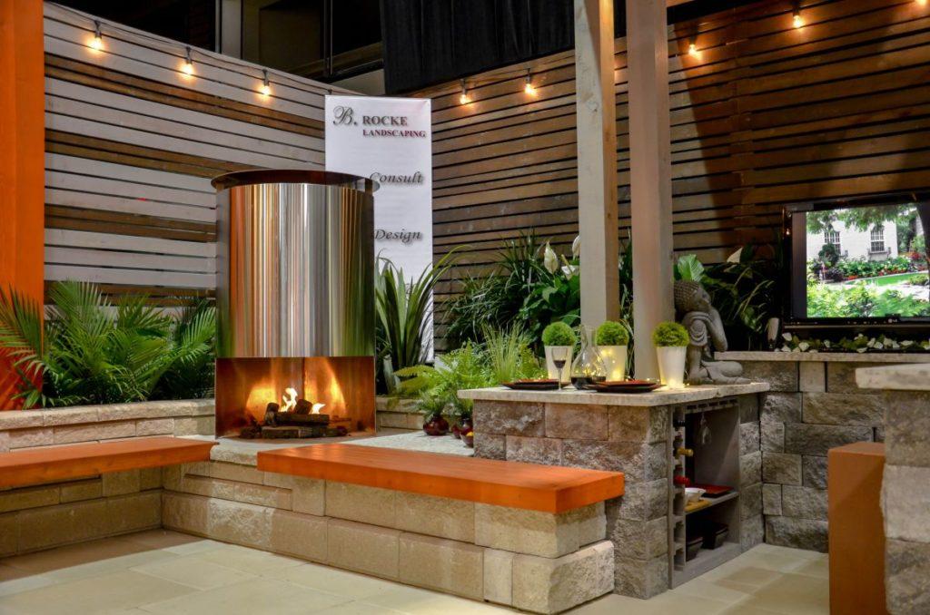 Home Show Fireplace | B. Rocke Landscaping | Winnipeg, Manitoba