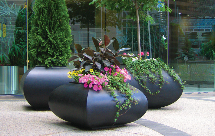 Planter with Annuals