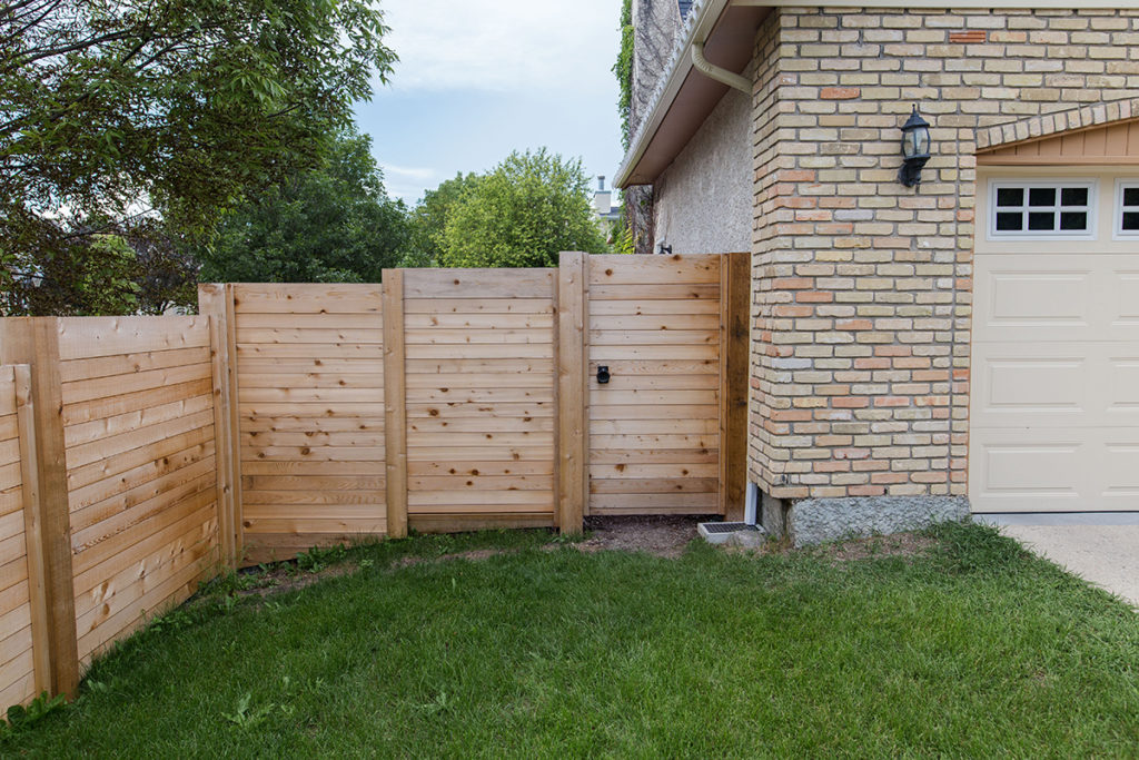 Cedar Privacy Fence 2 | B. Rocke Landscaping | Winnipeg, Manitoba