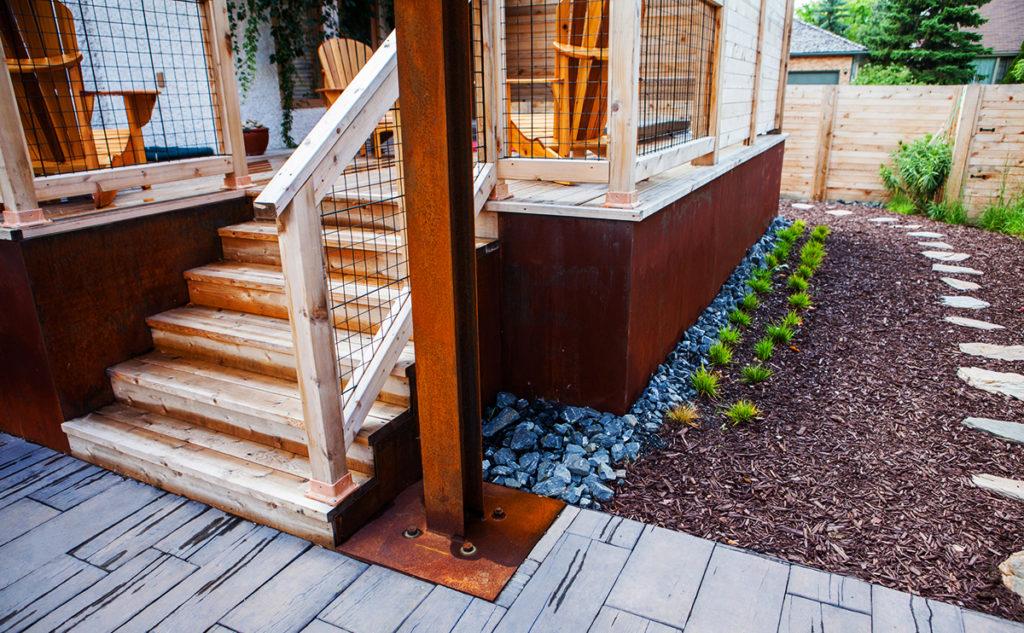 Deck Steps   B. Rocke Landscaping   Winnipeg, Manitoba