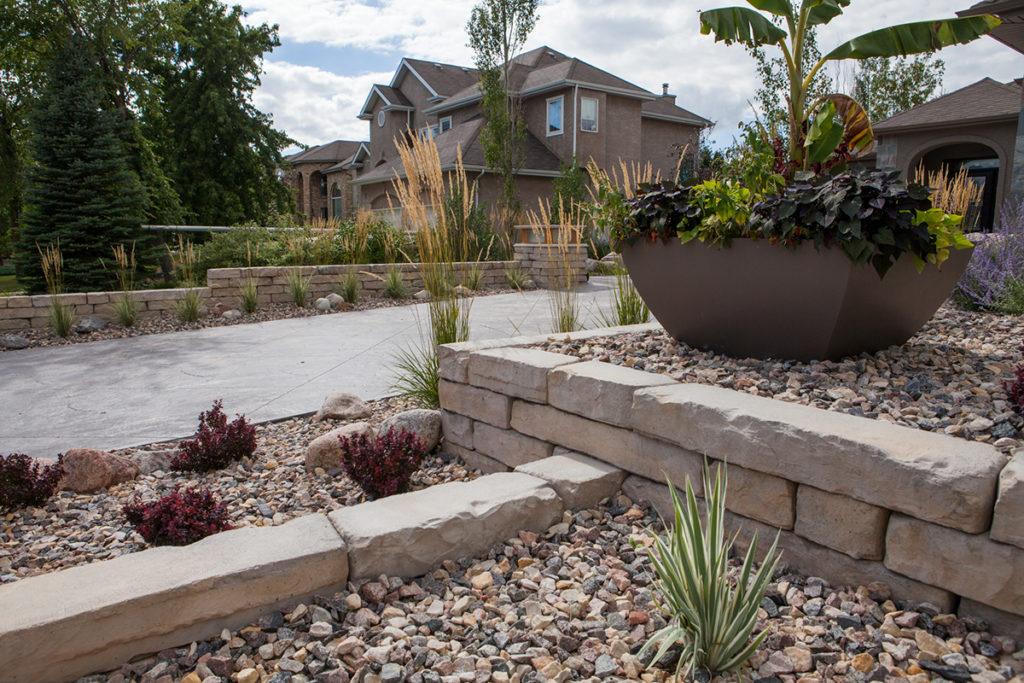 Rock Garden Planters | B. Rocke Landscaping | Winnipeg, Manitoba