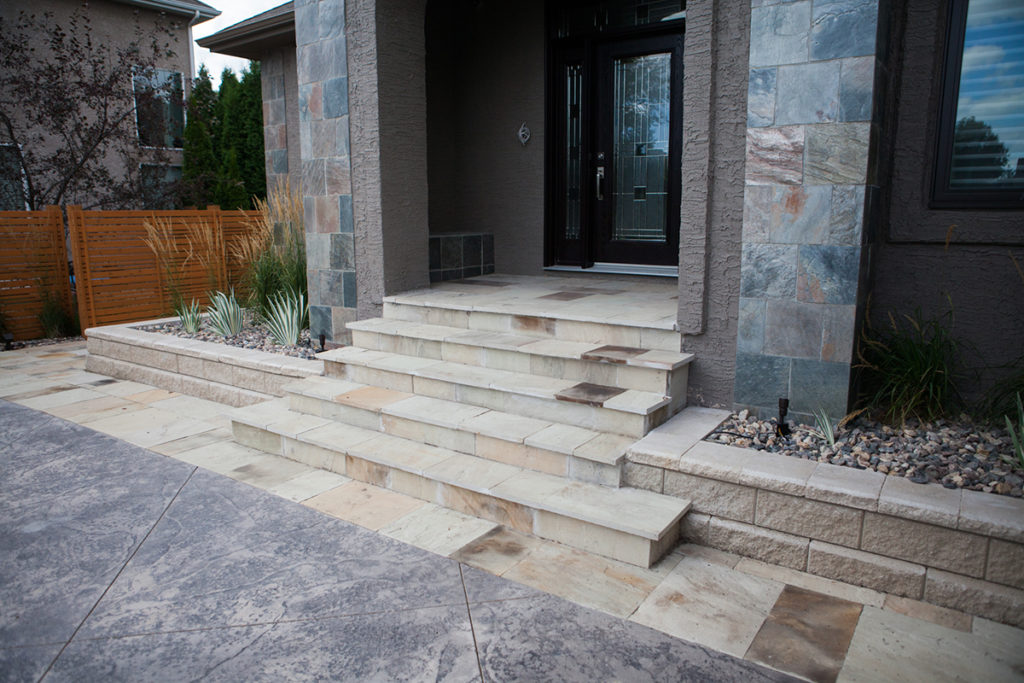 Sandstone Steps | B. Rocke Landscaping | Winnipeg, Manitoba