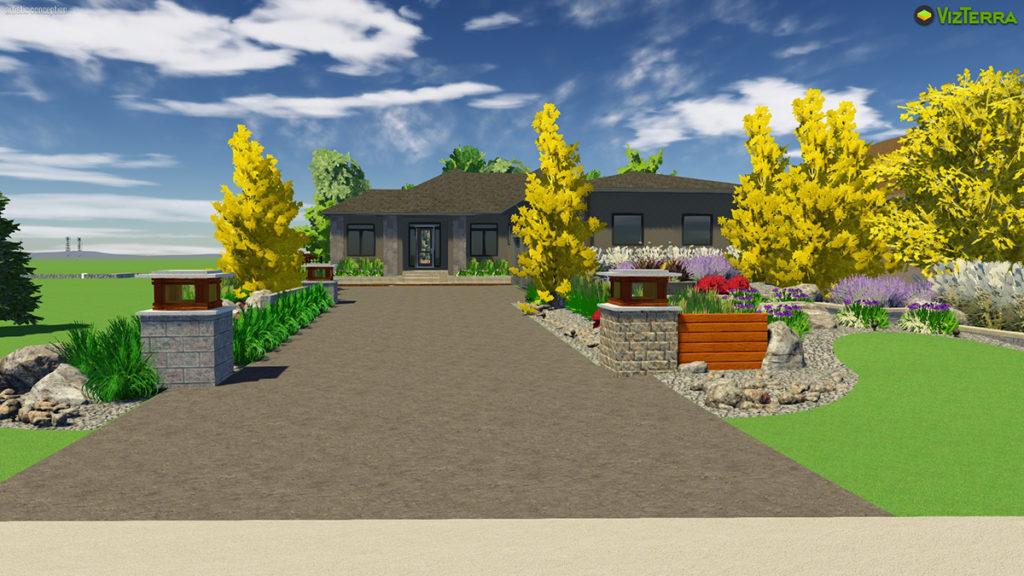 Virtual Concrete Driveway | B. Rocke Landscaping | Winnipeg, Manitoba