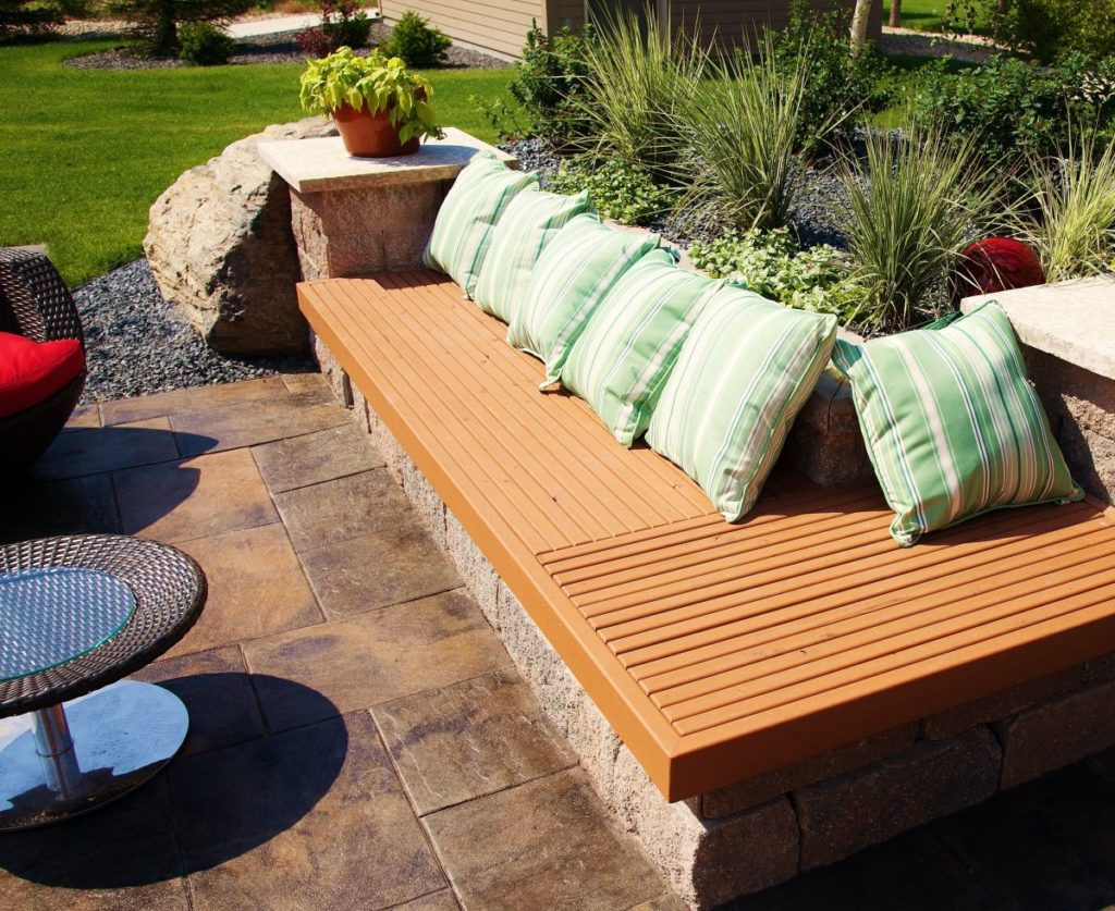 Treated Lumber Bench | B. Rocke Landscaping | Winnipeg, Manitoba