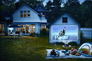Garage Wall Projection Screen