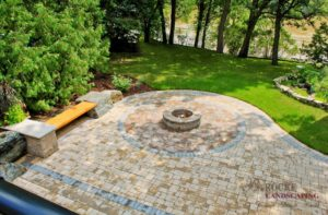 Patio 2 | Fire Pit | Circle | B. Rocke Landscaping | Winnipeg, Manitoba