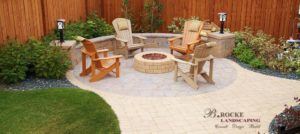 Patio | Fire Pit | Circle | B. Rocke Landscaping | Winnipeg, Manitoba