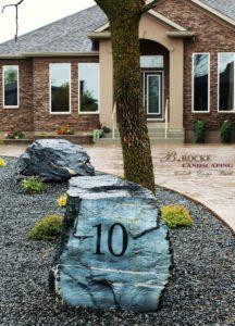 Address Boulder | B. Rocke Landscaping | Winnipeg, Manitoba