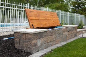 Bench Storage Open | B. Rocke Landscaping | Winnipeg, Manitoba