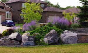 Boulder Retaining Wall | B. Rocke Landscaping | Winnipeg, Manitoba