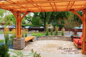 Pergola | Wood Bench | B. Rocke Landscaping | Winnipeg, Manitoba