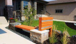 Boulder Bench | B. Rocke Landscaping | Winnipeg, Manitoba